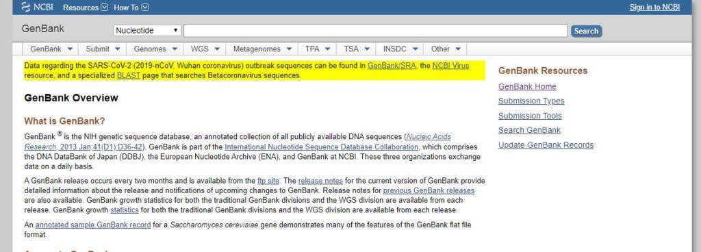 База данных GenBank